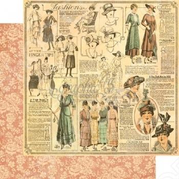 фото Бумага для скрапбукинга двусторонняя Graphic 45 La Gazette, купить, цена
