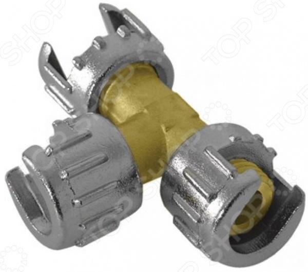 Разветвитель потока воздуха на 2 луча FIT 81131 представляет собой соединительную часть трубопровода для пневмокомпрессора, предназначенную для разделения воздушного потока на два канала. Изделие изготовлено из высококачественной латуни и дюралевого сплава, практично и долговечно в использовании.