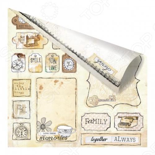 фото Бумага для скрапбукинга двусторонняя Prima Marketing Love tags, купить, цена