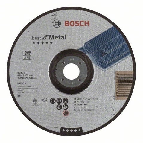 Круг обдирочный Bosch Best for Metal  цены