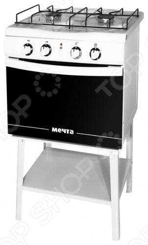 Плита Мечта 221-01 ГЭ это отличная плита, которая прекрасно подойдет в дизайн вашей кухни. Варочная панель газовая, духовка электрическая. Управление механическое, переключатели поворотные. Есть механический электроподжиг. Духовка оснащена двойным стеклом духовки и подсветкой. Панель варочной поверхности сделана из эмали, 2 конфорки, легко очищается.