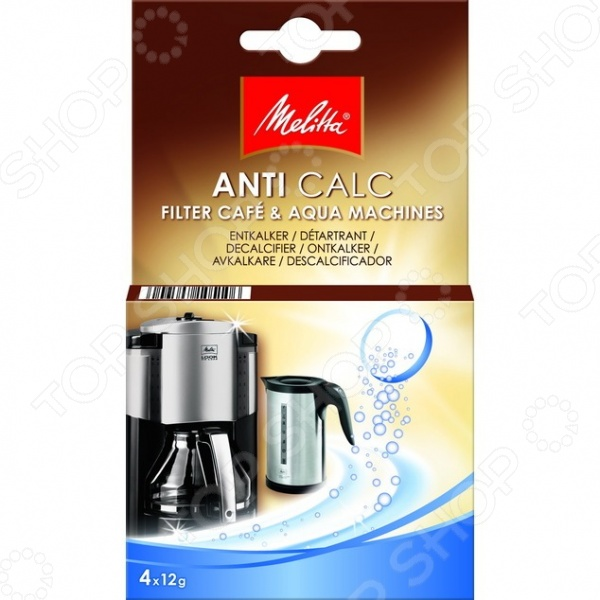Очиститель от накипи для фильтр-кофеварок Melitta 1500758 средство от накипи для чайников и кофеварок melitta 4 х 12 г