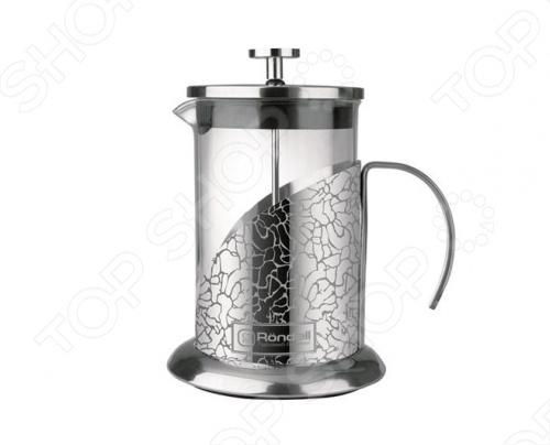 Френч-пресс Rondell Vintage пригодится для приготовления чайных и кофейных напитков. Корпус изготовлен из высококачественной нержавеющей стали, а колба - из жаропрочного стекла. Есть внутренние отметки литража и теплосберегающая крышка. Упакован в подарочную коробку с ручкой для удобной переноски. Дизайн в виде жидкостекольной внешней деколи. В комплект входит сменная колба для удобства заваривания разных видов напитков.