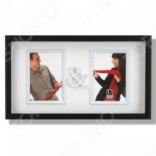 Рамка для двух фотографий Umbra You&amp;amp;MeФоторамки. Держатели<br>Рамка для двух фотографий Umbra You Me это замечательная фоторамка для влюбленных. У каждого человека есть особые воспоминания запечатленные в фотографиях, показывающие самые интересные промежутки жизни и которые заслуживают оправы. Вмещает две фотографии размером 13х18 см, соединенные символом - и . Оригинально впишется в интерьер.<br>