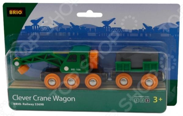 фото Вагон с подъемным краном Brio 33698, Железные дороги