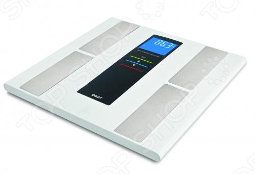 Весы Scarlett SC-219 диагностические с измерением уровня жира, воды и мышечной массы помогут просто и легко контролировать свой вес. Платформа из прозрачного стекла и нержавеющей стали. Прорезиненные ножки для дополнительной устойчивости и предотвращения скольжения. Благодаря встроенной функции памяти на 10 человек, следить за своим весом смогут все члены семьи. Параметры измерения воды, жира, мышечной и костной массы: 0.1 .