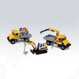 Подробнее о Набор машинок игрушечных Welly «Строительная техника» 99610-3B welly строительная техника