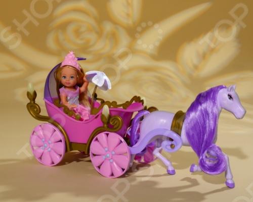 Кукла еви Simba в карете с лошадью