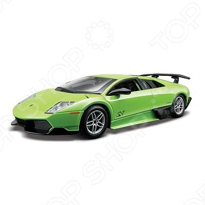 Сборная модель автомобиля 1:24 Bburago Lamborghini Murcielago LP 670-4 SVСборные модели автомобилей<br>Сборная модель автомобиля 1:24 Bburago Lamborghini Murcielago LP 670-4 SV это коллекционная модель, которая является копией настоящего автомобиля. Она изготовлена из металла с элементами пластика. У машинки открываются двери, двигаются колеса. Машинка является отличным подарком не только ребенку, но и коллекционеру. Однако, во время игры с такой машинкой у ребенка развивается мелкая моторика рук, фантазия и воображение.<br>