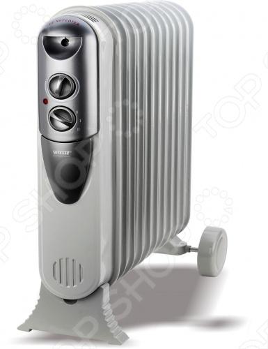 Масляный радиатор Vitesse VS-878 обогревает помещения площадью до 20 кв. м. Его удобно перемещать благодаря ручке и гладким роликам. Управление осуществляется с помощью операционных переключателей с индикатором. Имеет 3 режима нагрева. Автоматически отключается при перегреве. Давление проверено на безопасность.