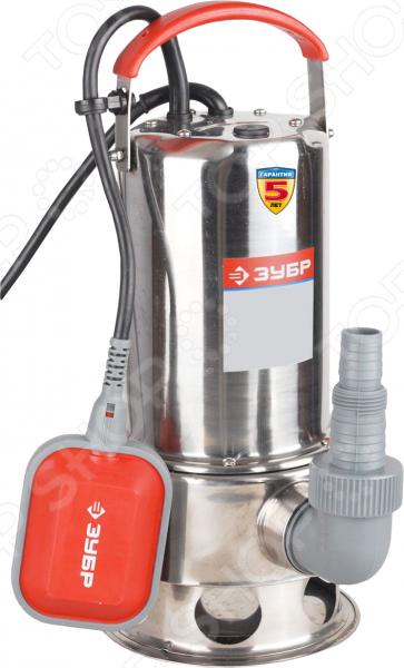 Насос погружной для грязной воды Зубр ЗНПГ-550-С погружной дренажный насос зубр знпг 550 с
