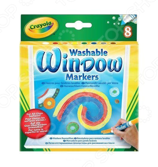 Набор маркеров для стекол Crayola «Washable Window markers» Набор маркеров для стекол Crayola «Washable Window markers» /