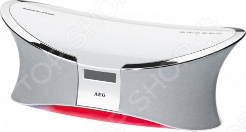 Система акустическая беспроводная AEG BSS 4803 для прослушивания музыки со смартфона, планшета, ноутбука или любого другого устройства с Bluetooth. Радиус действия составляет 15 метров. Однако можно подключить устройства и проводным путем через AUX-IN или слушать музыку с флешки есть USB-порт . Это система класса 2.1: две колонки по 50 Ватт и сабвуфер на 100 Ватт. Для управления используется пульт дистанционного управления или сенсорные кнопки на самой системе. Световая подсветка меняет свой цвет в соответствии с рабочим режимом.