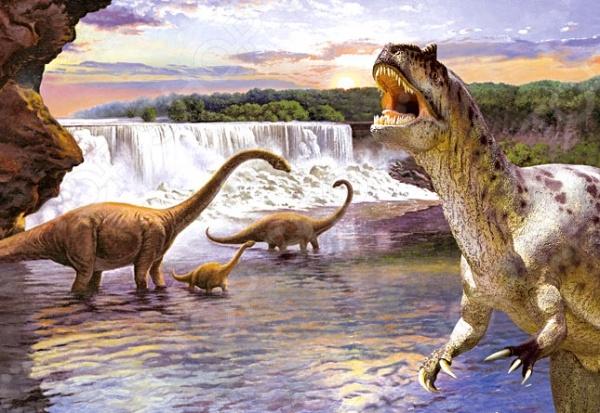 Пазл 260 элементов Castorland «Динозавры 2»