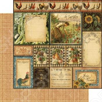 фото Бумага для скрапбукинга двусторонняя Graphic 45 Bon Appetit, купить, цена