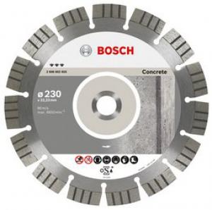 Диск отрезной алмазный для угловых шлифмашин Bosch Best for Concrete 2608602655 диск отрезной алмазный турбо 115х22 2mm 20006 ottom 115x22 2mm