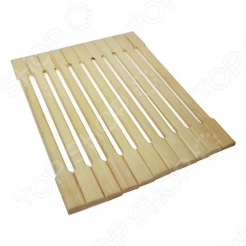 Коврик деревянный Банные штучки липовая рейка