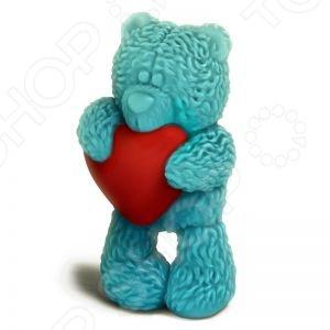 Форма пластиковая Выдумщики «Медвежонок Тедди стоит с сердечком»