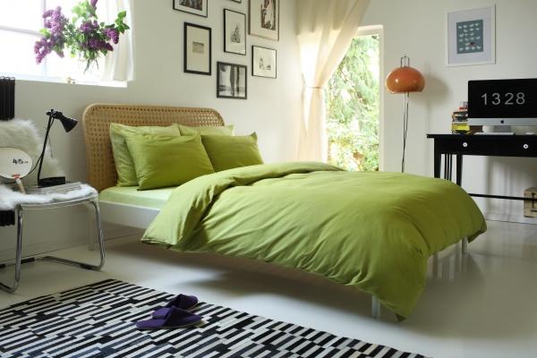 Фото Комплект постельного белья Dormeo Una. 2-спальный. Цвет: зеленый