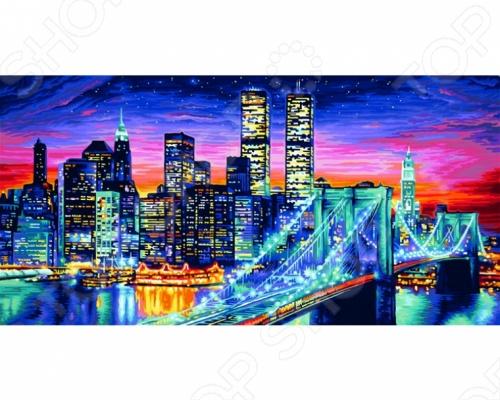 Раскраска по номерам Schipper «Ночной Манхеттен» schipper раскраска по номерам царевна лягушка 18х24 см