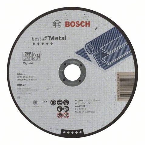 Диск отрезной прямой Bosch Best for Metal Rapido
