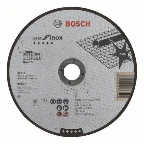 Диск отрезной прямой Bosch Best for Inox Rapido