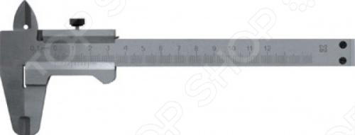 Штангенциркуль РОС металлический изготовлен из инструментальной стали. Предназначен для наружных и внутренних измерений. Точность равна 0.1 мм.