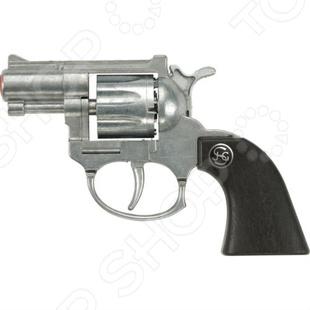 Пистолет Schrodel РубиПистолеты<br>Пистолет Schrodel Руби оружие, с которым ребенок почувствует себя настоящим стрелком. Сама стрельба производится пистонами, что делает игровой процесс более реалистичным. В качестве мишени можно использовать простой картонный лист с нарисованной целью, это поможет грамотно выработать умение стрельбы. Кроме того, оружие выглядит невероятно круто. Перед использованием нужно произвести инструктаж для ребенка.<br>