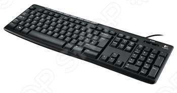Клавиатура Logitech K200 for business клавиатура logitech k200 usb черный серый [920 008814]
