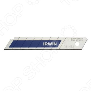 Лезвия для ножа IRWIN Bi-MetalЛезвия для строительных ножей<br>Лезвия для ножа IRWIN Bi-Metal произведены с использованием новейшей технологии SOFT SNAP, что в результате дает более безопастное и контролированное отламывание сегментов.<br>