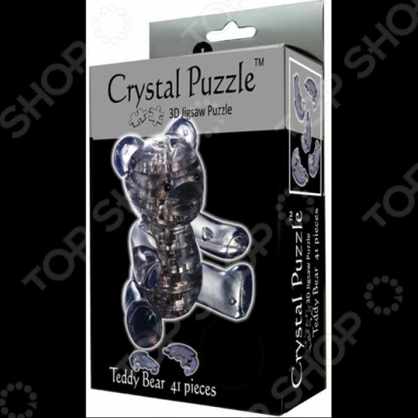 Пазл кристаллический Crystal Puzzle «Мишка дымчатый»Другие виды пазлов<br>Пазл кристаллический Crystal Puzzle Мишка дымчатый это замечательная альтернатива привычным пазлам. Готовая модель будет выглядеть как настоящая фигурка, детали которой плотно зафиксированы. Когда пазл собран стыки почти не видны и ребенок сможет любоваться готовым изделием. Собранная фигурка выглядит словно сделана из хрусталя, она может стать красивым элементом декора. Пазлы такого типа помогают развить логическое и пространственное мышление, фантазию, понятие объема и мелкую моторику рук. Внутри конструктора есть светодиод, который подсветит фигуру в темноте.<br>
