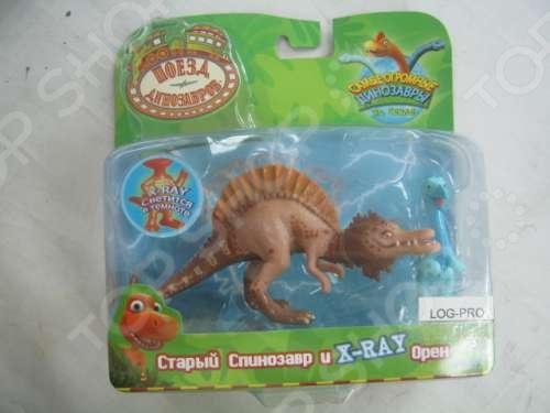 Набор фигурок динозавров с вагончиком Поезд Динозавров «Старый Спинозавр и X-Ray Орен» поезд динозавров игровой набор большой поезд