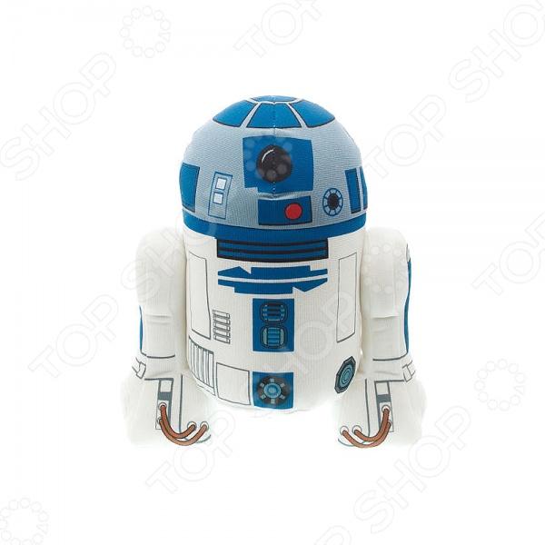 Игрушка плюшевая со звуком StarWars «Р2-Д2» 00239JМягкие игрушки<br>Игрушка плюшевая со звуком StarWars Р2-Д2 00239J станет отличным подарком, который можно подарить как взрослому, так и ребенку. Вместе с ней у его обладателя всегда будет замечательное настроение так, как игрушка не только напоминает о любимом персонаже и всем известном фильме, но и, по велению владельца, воспроизводит известные фразы героя не адаптированы на русский язык .<br>