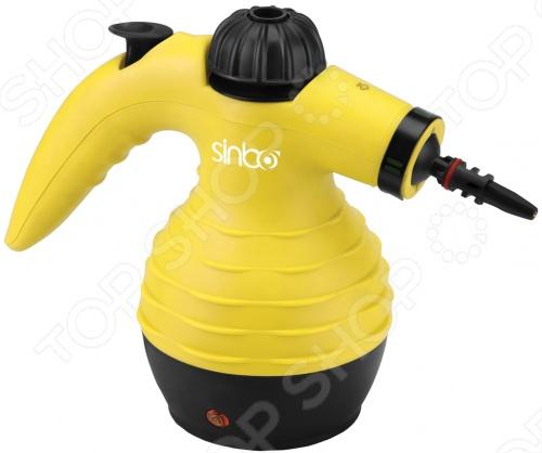 Пароочиститель Sinbo SSC 6411 без труда выведет без применения чистящих средств даже самые стойкие загрязнения и пятна. Модель отлично подходит для очистки различных поверхностей. Объем резервуара данной модели составляет 250 мл, а время нагрева всего 3 минуты, при этом он может непрерывно работать в течение 7 минут. В комплекте 9 насадок, которые делают его совершенно универсальным в применении.