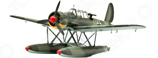 Сборная модель самолета Revell Arado 196 A-3Авиамодели<br>Сборная модель Arado 196 A-3 представляет собой точную копию настоящего военного самолета. Состоит из 43 деталей, которые юный механик должен собрать сам. Во время игры с такой крылатой машиной у ребенка развивается мелкая моторика рук, фантазия и воображение. Немецкий гидросамолет выпущен известной компанией по производству игрушек Revell. Изготовлен из пластика и обладает потрясающей детализацией. Сборная модель Arado 196 A-3 является отличным подарком не только ребенку, но и коллекционеру. Клей, кисточка и краски в комплект не входят.<br>