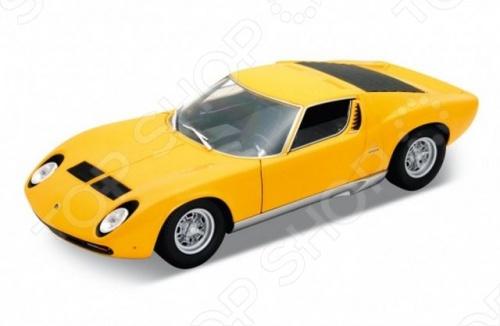 Модель машины 1:18 Welly Lamborghini Miura. В ассортиментеМодели авто<br>Модель машины 1:18 Welly Lamborghini Miura это коллекционная модель, которая является копией настоящего автомобиля. Она изготовлена из металла с элементами пластика. У машинки открываются двери, двигаются колеса. Машинка является отличным подарком не только ребенку, но и коллекционеру. Однако, во время игры с такой машинкой у ребенка развивается мелкая моторика рук, фантазия и воображение.<br>