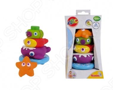 Игрушка-пирамидка Simba с животными 4019678Пирамидки для малышей<br>Игрушка-пирамидка Simba с животными 4019678 понравится как деткам, так и взрослым. Данная модель - это замечательный подарок для вашего малыша. Яркая пирамида состоит из 4 фигурок и превратит обычные водные процедуры в огромное удовольствие. Модель оснащена присоской, благодаря которой ее легко прикрепить к стенкам ванной. Зеленую зверушку можно использовать в роли брызгалки. Игрушка поможет развить мелкую моторику, фантазию, а также координацию движений.<br>