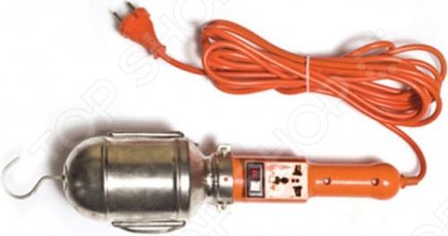 Светильник переносной UNIVERSAL с выключателем и розеткой используется удаленно от основного источника света. На плафоне расположен крюк, который позволит подвесить светильник и тем самым освободить руки для работы. На корпусе расположен выключатель, благодаря которому прибор прослужит дольше. Работает и с лампами накаливания 60Вт , и с энергосберегающими лампами.