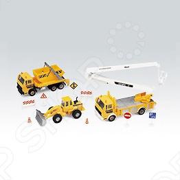 Подробнее о Набор машинок игрушечных Welly «Строительная техника» 99610-10C welly строительная техника