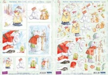 фото Аппликация вырубная и фон для рисунков Reddy Creative Cards «Рождество» №1, купить, цена