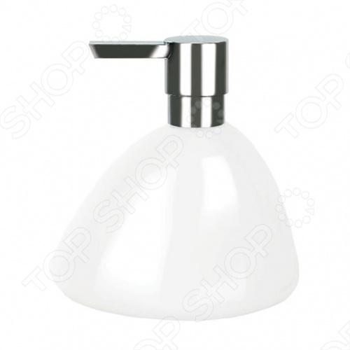 Ёмкость для жидкого мыла керамическая Spirella ETNA SHINYДиспенсеры для мыла<br>Ёмкость для жидкого мыла керамическая Spirella ETNA SHINY незаменимая вещь в любой ванной комнате. Этот стильный аксессуар станет прекрасным дополнениям к стилю вашей ванной комнаты. Дозатор очень удобен в использовании. Жидкое мыло всегда выдается порциями одинакового объема.<br>