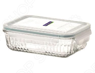 Контейнер для продуктов Glasslock OCRSКонтейнеры для продуктов и ланч-боксы<br>Контейнер для продуктов Glasslock OCRS это отличная прямоугольная чаша, которая сделана из закаленного ударопрочного стекла. Чаша идеально подходит для длительного хранения продуктов в холодильнике, обеспечивает 100 герметичность. На крышке есть замки-защелки с четырех сторон, что и помогает обеспечить воздухонепроницаемость внутри контейнера. Чаша выдерживает перепады температур от -20 до 230 градусов, можно использовать в микроволновке и морозильнике. Контейнер легко моется и не впитывает запах продуктов.<br>