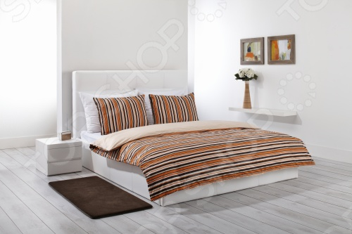 Фото Комплект постельного белья Dormeo Mark Trend. 1-спальный. Цвет: оранжевый
