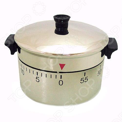 Таймер механический T-090 это отличный механический таймер, который выполнен в виде кастрюли. Таймер предназначен для задания временного интервала и оповещения, а так же подойдет для фиксации времени при выполнении каких-либо циклических работ. Данный таймер станет отличным подарком любой хозяйке. Стильный дизайн отлично впишется в интерьер вашей кухни. Программирование происходит до 60 минут. Погрешность установки - 0,5 мин. Установка таймера: поставьте ваш таймер в вертикальное положение. Держите одной рукой нижнюю часть неподвижно, а второй рукой поверните верхнюю часть по часовой стрелке направо до упора, не прилагая большой силы будут слышны щелчки заводящегося механизма . Таймер начнет тикать . Затем, для того чтобы выставить период времени, через который таймер сработает зазвонит поворачивает верхнюю часть против часовой стрелки так, чтобы стрелочка на нижней части была напротив числа в минутах . Поставьте таймер в любое место помещения так, чтобы при срабатывании Вы услышали его сигнал.
