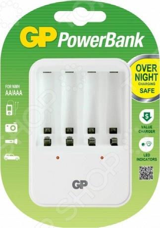 Устройство зарядное GP PB420GS-2CR1Портативные зарядные устройства<br>Устройство зарядное GP PB420GS-2CR1 - простая и экономная модель, предназначенная для подзарядки аккумуляторных батареек Ni-Cd или Ni-MH. Устройство бережно заряжает батарейки, значительно продлевая их ресурс. В модели предусмотрен индикатор состояния заряда батареи. Устройство оснащено автоматической защитой от перегруза и перегрева.<br>
