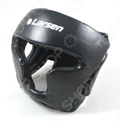 Шлем боксерский Larsen TC-0956 с защитной маской рекомендован для тренирующихся спортсменов и соревнований среднего уровня. Регулируемая застежка Velcro на затылке. Выполнен в черном цвете. Есть дополнительная защита ушей. Изготовлен из натуральной кожи. Наполнитель: синтетическая пена. Маска: ударопрочный пластик. 3-слойное наполнение для сверхпрочной защиты и гашения силы удара.