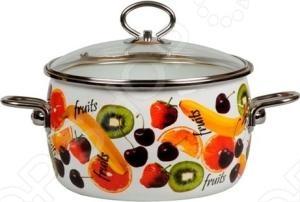 Кастрюля с крышкой Vitross Fruits кастрюля эмалированная с крышкой vitross maestro top