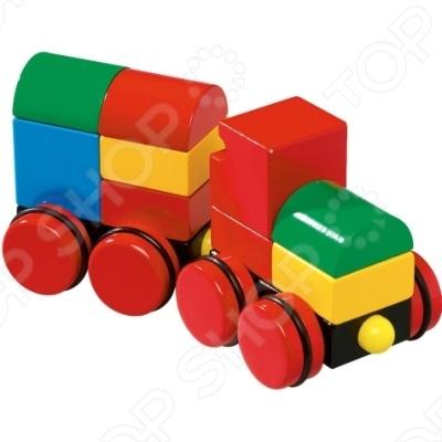 Конструктор из кубиков на магнитах Brio 30124 «Поезд» toys lab конструктор цирковой поезд
