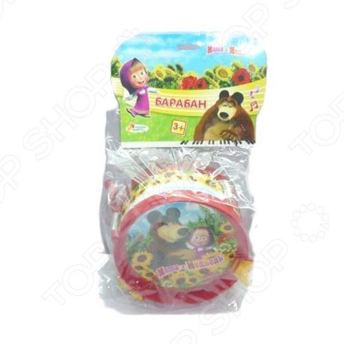фото Барабан игрушечный Играем Вместе Маша и медведь, Игрушечные музыкальные инструменты