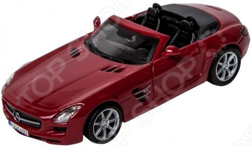 Модель автомобиля 1:32 Bburago Mercedes-Benz SLS AMG Cabrio. В ассортименте